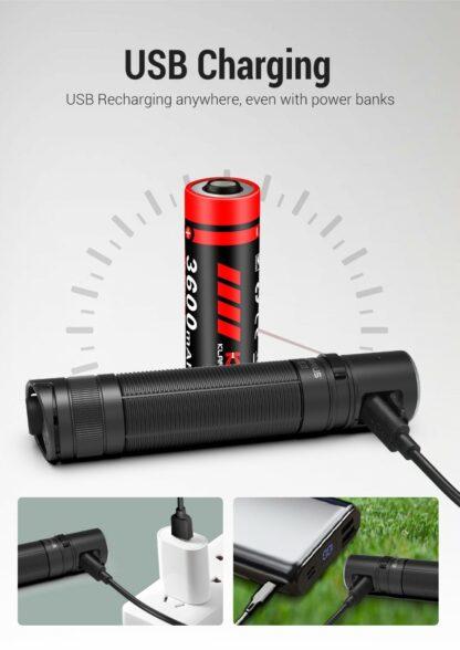 Klarus E2 Compact Rechargeable EDC Pocket Torch - 1600 Lumens-18156