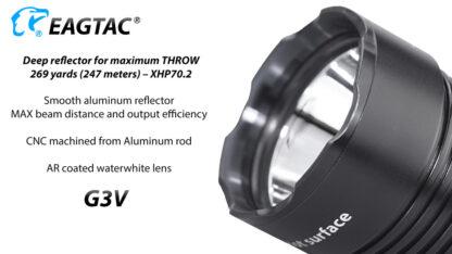 Eagletac G3V USB-C Rechargeable Tactical Flashlight (3200 Lumens)-18643