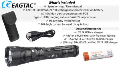 Eagletac G3V USB-C Rechargeable Tactical Flashlight (3200 Lumens)-18638