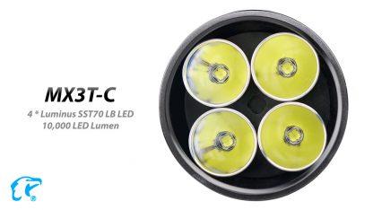 Eagletac MX3T-C USB-C Rechargeable Compact Flashlight/Power Bank - 10000 Lumens-18861