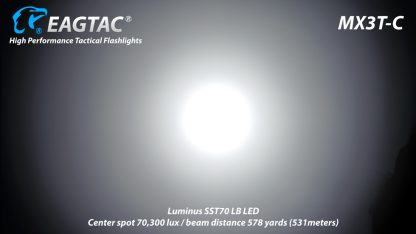 Eagletac MX3T-C USB-C Rechargeable Compact Flashlight/Power Bank - 10000 Lumens-18867