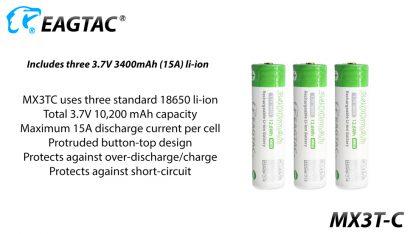 Eagletac MX3T-C USB-C Rechargeable Compact Flashlight/Power Bank - 10000 Lumens-18862