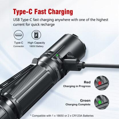 Klarus XT2CR Pro USB Type-C Rechargeable Flashlight - 2100 Lumens-18828