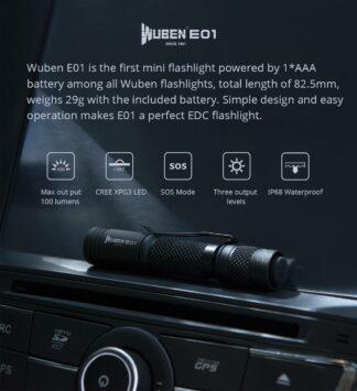 WUBEN E01 EDC Keychain Flashlight - 1AAA-19350