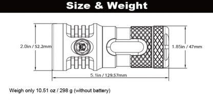 Manker MK37 Long Throw Searchlight- 5800 Lumens, 935 Metres-19474