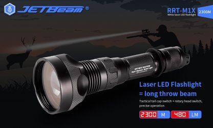 JETBeam RRT-M1X White Laser Flashlight - 2300 Metres-19290
