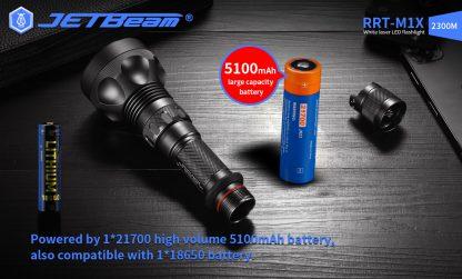 JETBeam RRT-M1X White Laser Flashlight - 2300 Metres-19283