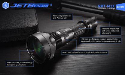 JETBeam RRT-M1X White Laser Flashlight - 2300 Metres-19286