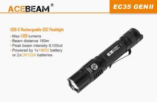 Acebeam EC35 II Compact Rechargeable Flashlight (1100 Lumens)-19850