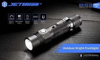 JETBeam KO-02 V2 EDC Type-C Rechargeable Flashlight - 2000 Lumens-19561