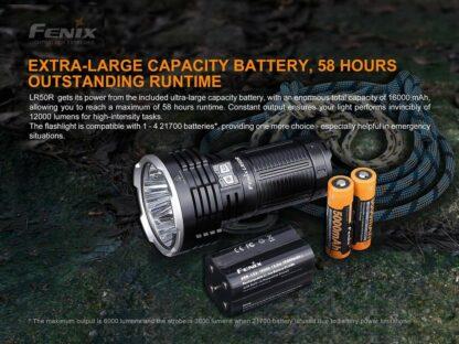 Fenix LR50R USB-C Rechargeable Spotlight - 12000 lumens, 950m-19894