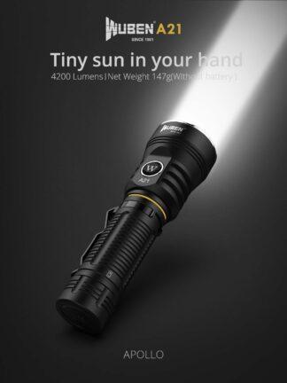 Wuben A21 Type-C Rechargeable Flashlight - 4200 Lumens-20329