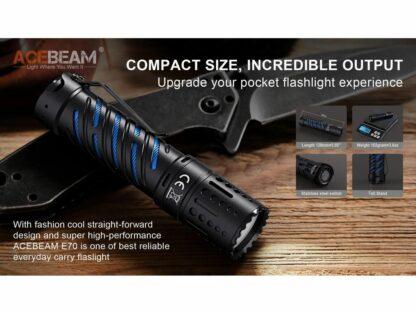 Acebeam E70-AL Compact Pocket Flashlight - 4600 Lumens-20203