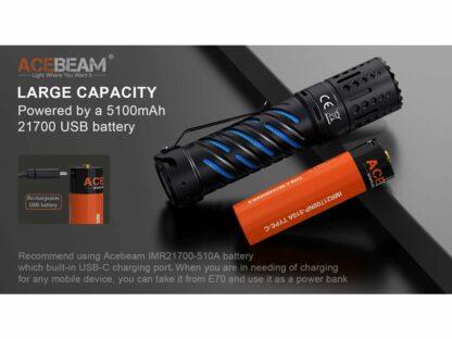 Acebeam E70-AL Compact Pocket Flashlight - 4600 Lumens-20206