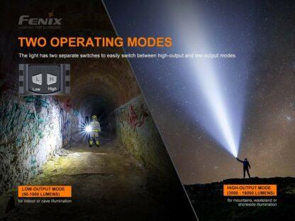 Fenix LR80R Rechargeable Searchlight - 18,000 Lumens, 1130m -20417