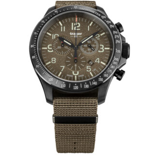 Traser P67 Khaki Officer Pro Chronograph Watch with NATO Band