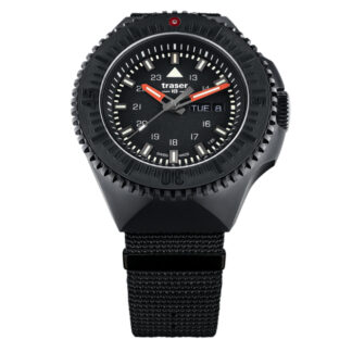 Traser P69 Black Stealth NATO Band Watch in Black