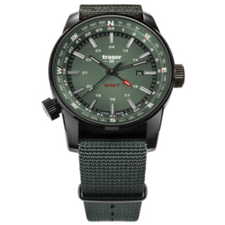Traser P68 Pathfinder Green GMT with NATO Watch Band