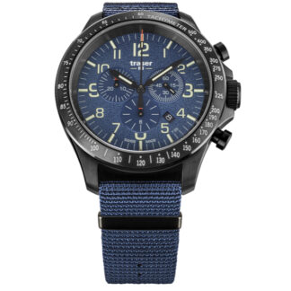Traser P67 Blue Officer Pro Chronograph Watch with NATO Band