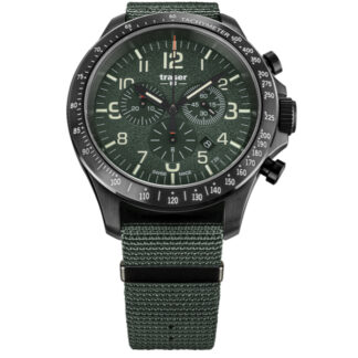 Traser P67 Green Officer Pro Chronograph Watch with NATO Band