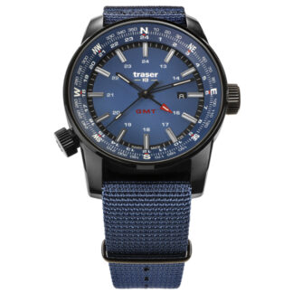 Traser P68 Pathfinder Blue GMT with NATO Watch Band
