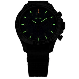 Traser P67 Black Officer Pro Chronograph Watch with NATO Band
